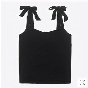 J. CREW Tie Shoulder Tank Black